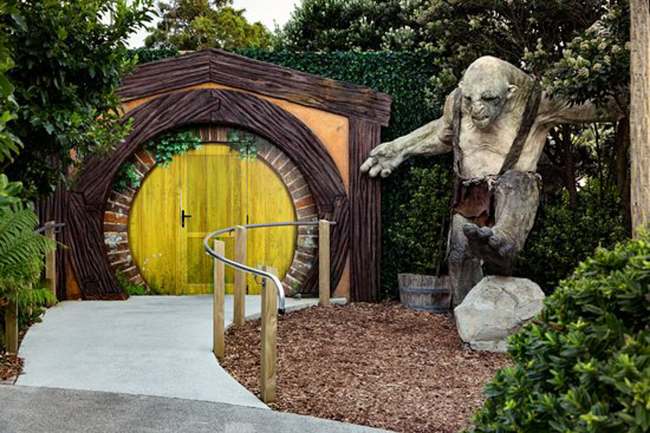 Entrance to Weta Cave in Wellington.