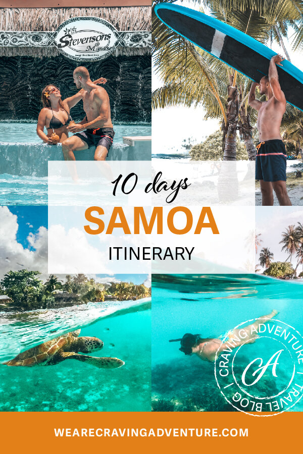 Itinerary overview - DAY 1 - North Savai;'iDAY 2 - Mt. Matavun & ManaseDAY 3 - Lava fields & back to UpoluDAY 4 - ApiaDAY 5 - Cross IslandDAY 6  - Giant Clams & beach dayDAY 7 -  To Sua Ocean trenchDAY 8 - Lalomanu & Namu'aDAY 9 - West UpoluDAY 10 - Departure day