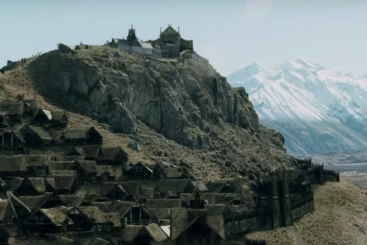 Edoras in The Two Towers.