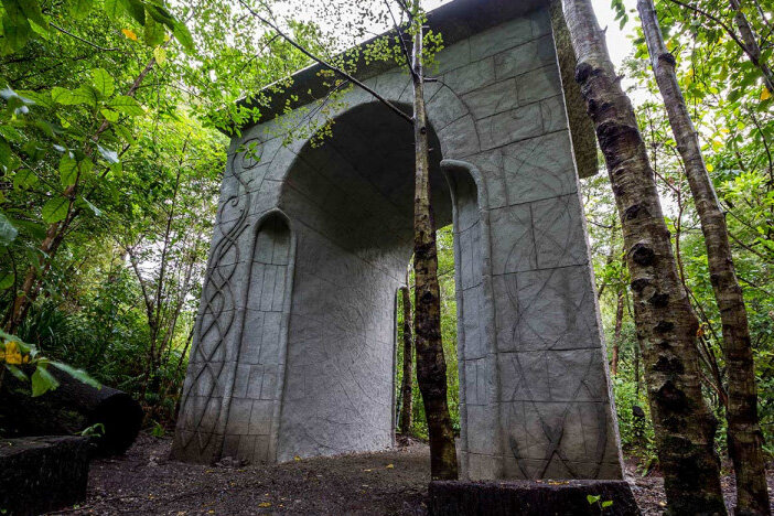 The gate of Rivendell in Kaitoke Reginal Park. Picture by  huttvalleynz .