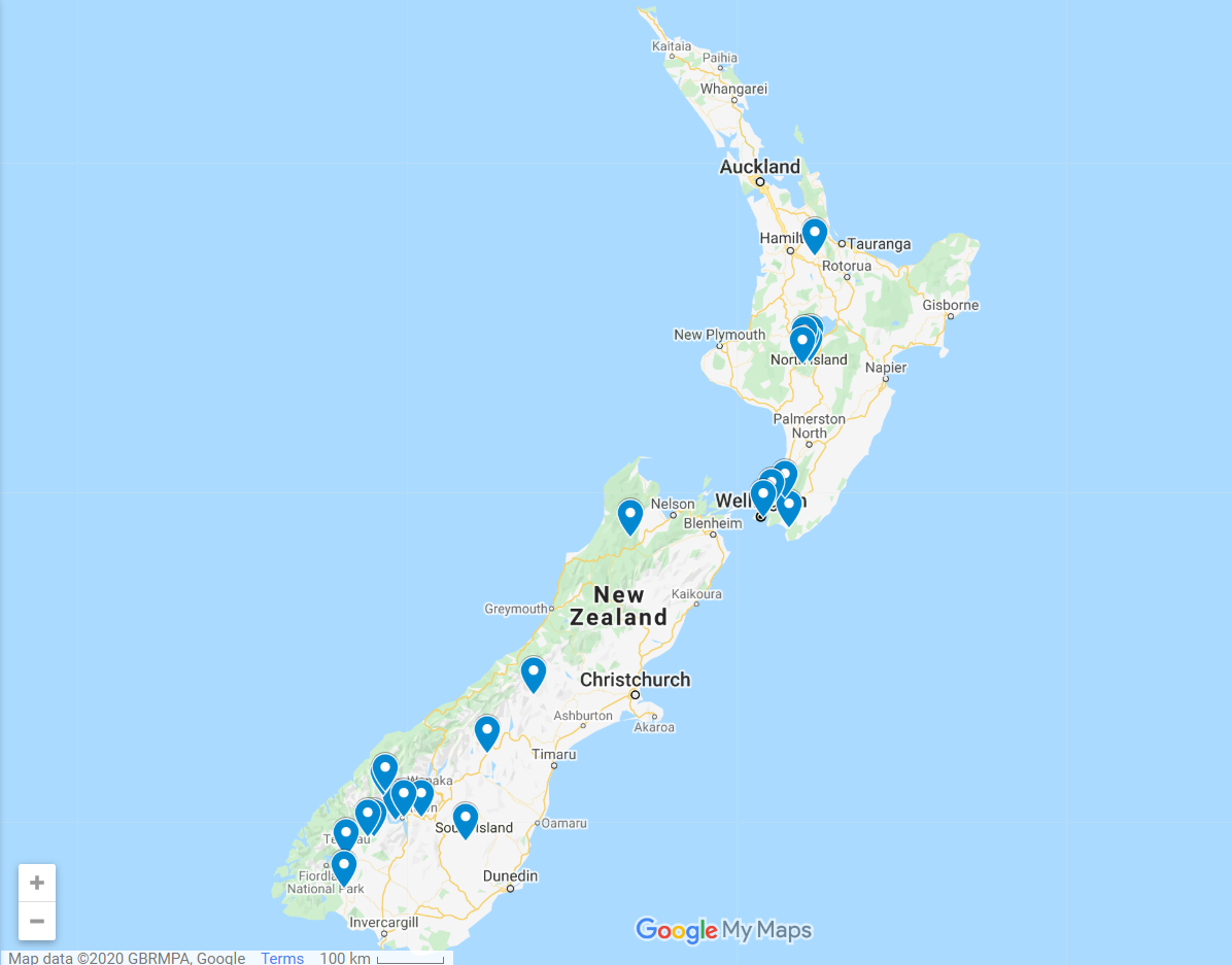 New Zealand Lord of the Rings filming locations map