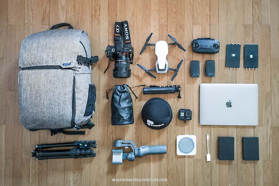 What is in our camera bag