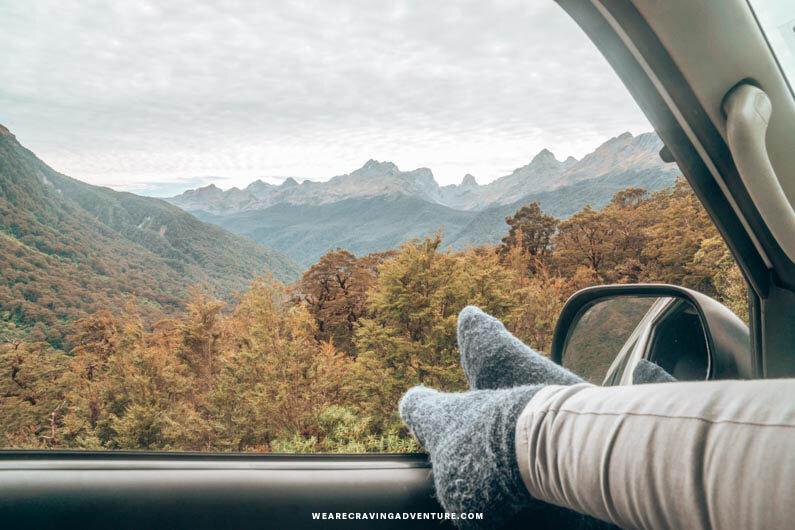 Te Anau to Milford Sound scenic drive -