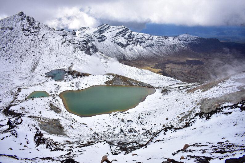 Winter conditions Tongariro Alpine Crossing Guide