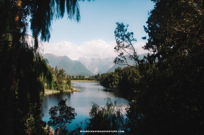 New Zealand South Island Road Trip Lake Matheson