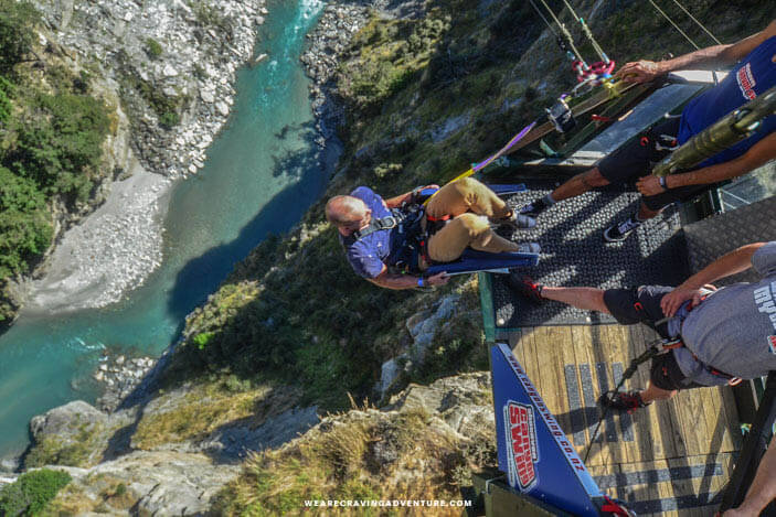 New Zealand South Island Road Trip Shotover Canyon Swing