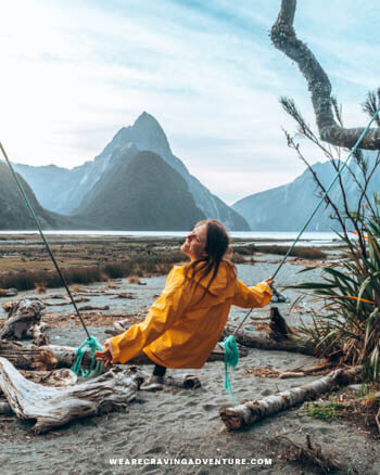 New Zealand South Island Road Trip Milford Sound Swing