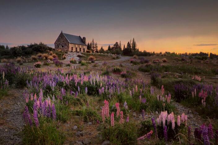 New Zealand South Island Road Trip Church of the Good Shephers
