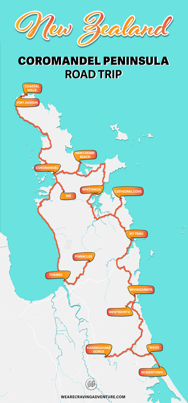 Navigate to: - Coromandel Forest ParkThames coastal road & 309Coromandel town & beyondWhangapoua & New Chums beachWhitianga & aroundCathedral Cove & HaheiWhangamata  & aroundWaihi Beach & aroundKarangahake gorge