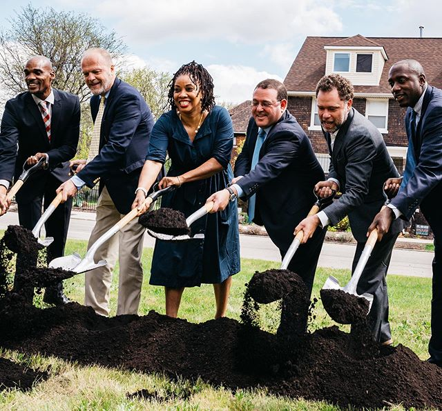 Today we celebrate one year since breaking ground in the North End. So far, we have nearly completed the construction of five single-family homes and three townhomes, in addition to several historic renovations underway. And we're just getting started. • #detroit #northenddetroit #developdetroit #detroitrealestate #investindetroit #detroitdevelopment #revolutionhomes