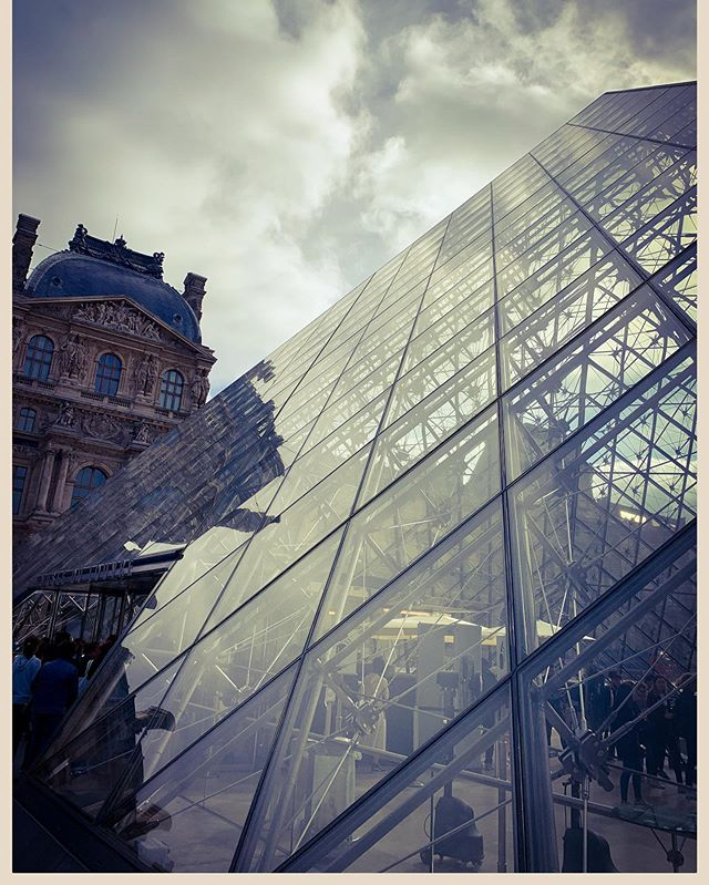 The Louvre on a cloudy day today.