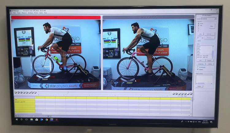 The shot on the left was actually my eventual position (note the increased knee bend and reduction in reach.) The shot on the right was of the Giant prior to the final tweaks. Because the Giant has an integrated seatpost, we made all of the changes on the Aura and then replicated the position across to the Giant.