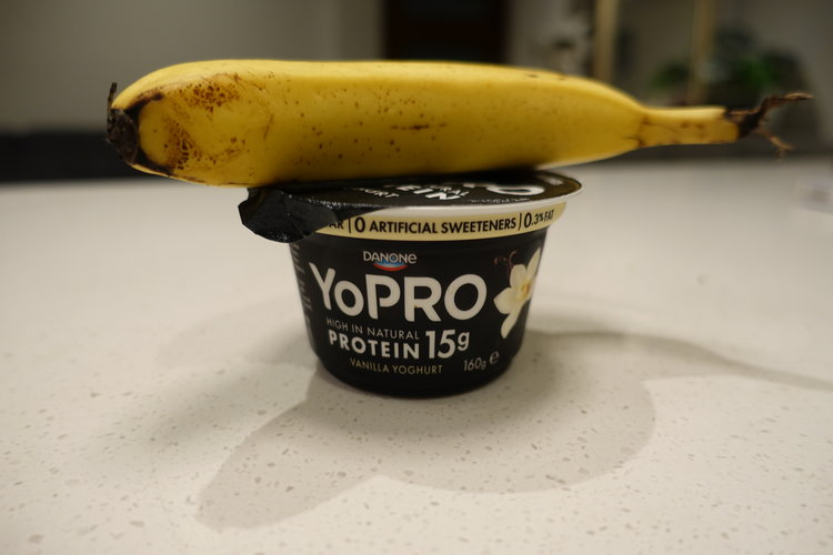 The Danone Brand yoghurt tastes unreal, is low in sugar, high in protein and full of good natural bacteria.