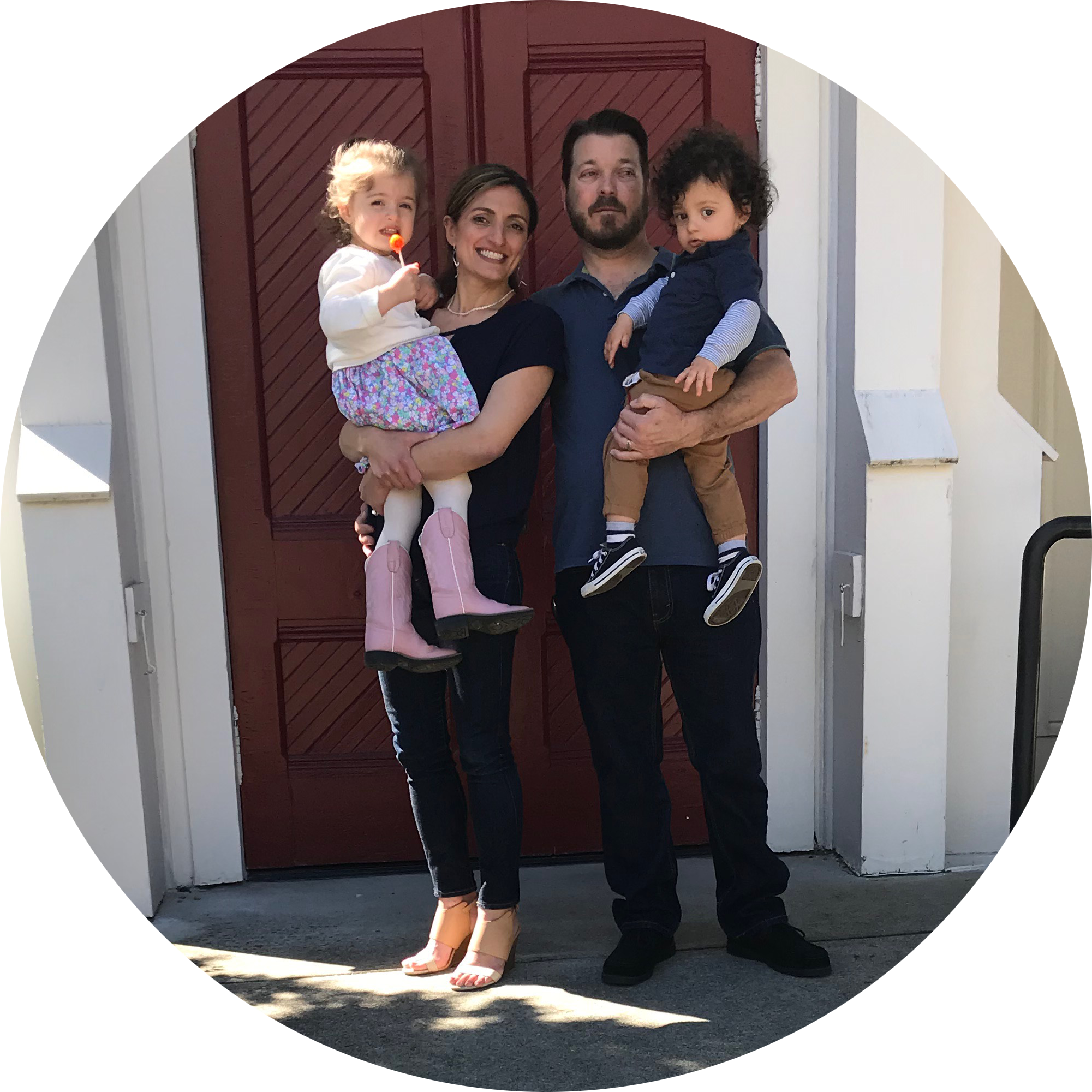 Zeetoon Soap founder, Michele, and her family