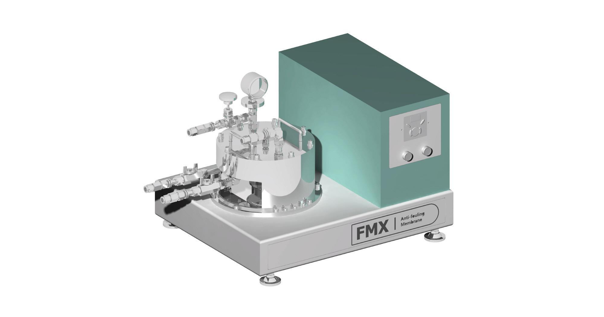 저압/고압 운전용  •MF/UF/NF Membrane 적용가능  •높은 온도와 압력, pH 조건 등 악조건 속 운전 가능  •Lab-test 장비로 막 선정 실험 시 사용  •연구 개발에 다양한 Membrane을 사용할 시 사용  •2~10L 연구용 목적으로 사용저압/고압 운전용  •MF/UF/NF Membrane 적용가능  •높은 온도와 압력, pH 조건 등 악조건 속 운전 가능  •Lab-test 장비로 막 선정 실험 시 사용  •연구 개발에 다양한 Membrane을 사용할 시 사용  •2~10L 연구용 목적으로 사용