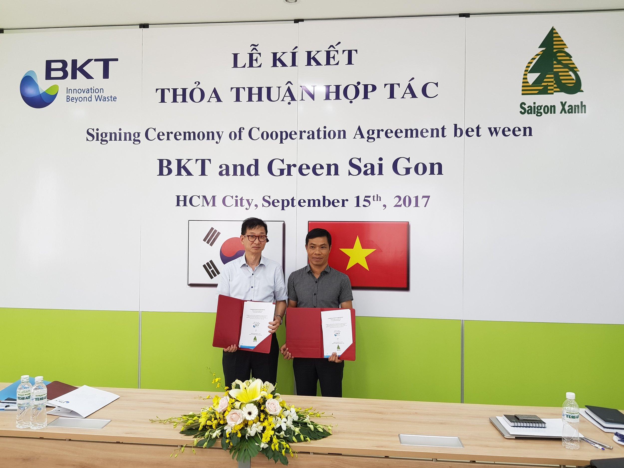 Green Saigon과 MOU 체결