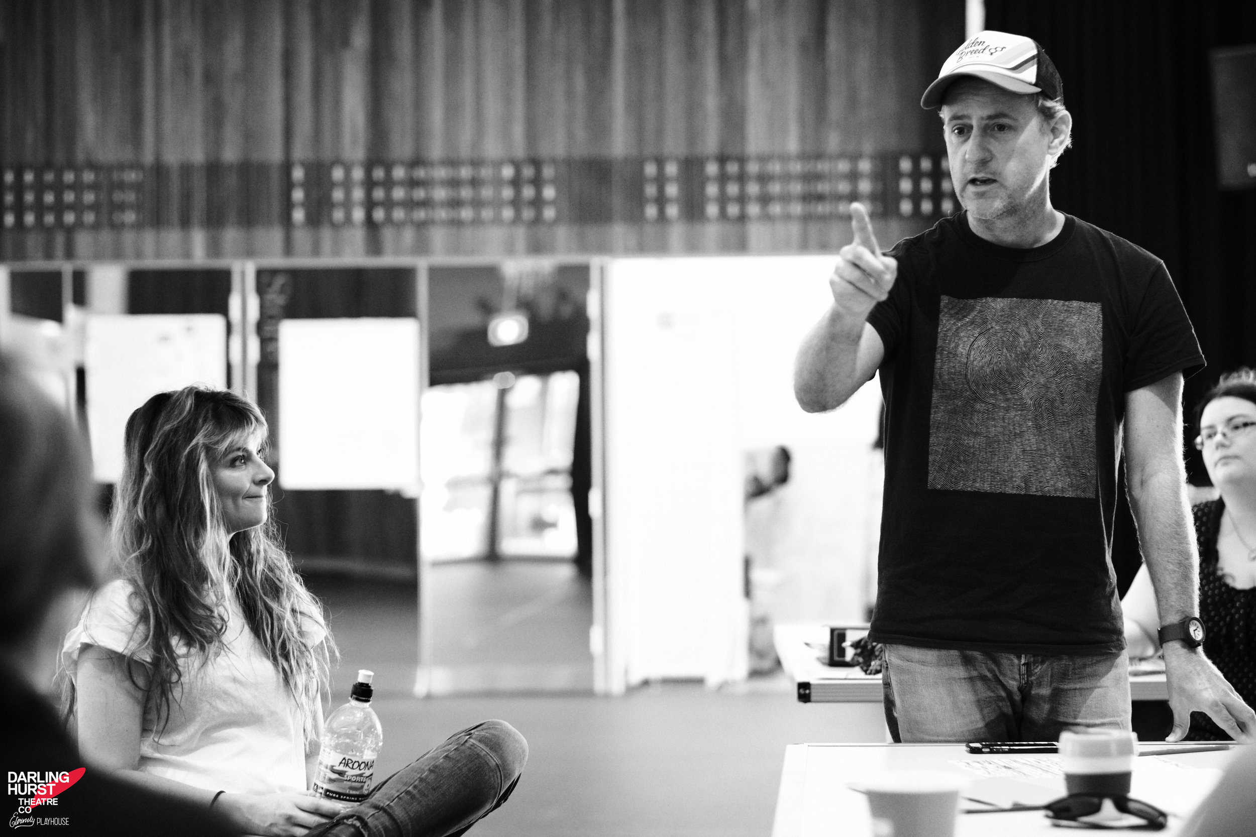 """Small Mouth Sounds - Director Jo Turner calls his cast a """"group of such open, playful, skilful, creative, delightful people."""" And so they are.Rehearsal photos of the Darlinghurst Theatre Company production by Robert Catto."""