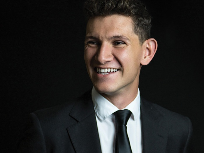 I Sing Songs - Steven Kreamer steps out from behind the upstage curtain.