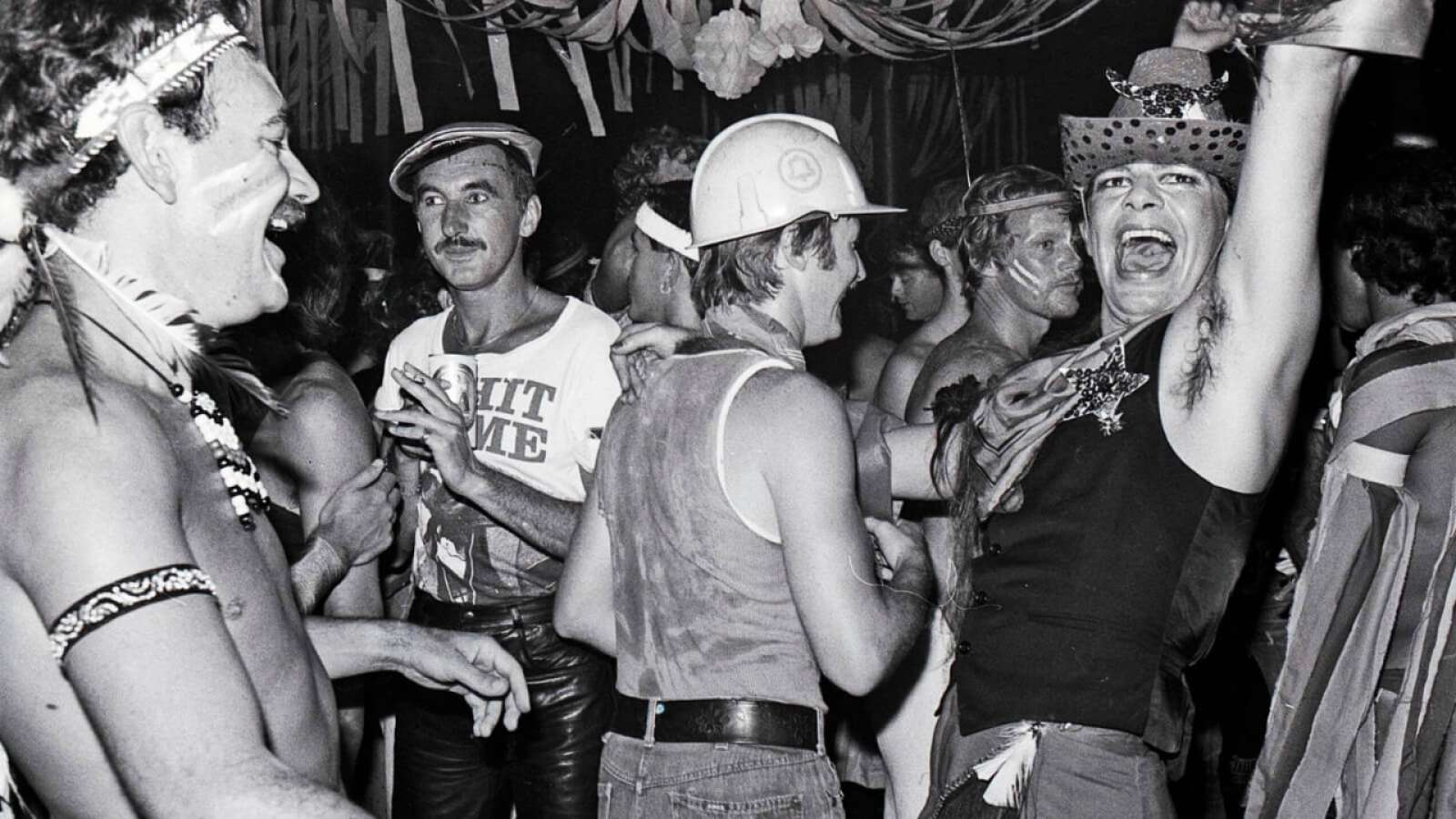 PARTY (verb) - Frank Elgar and Robert Burton's New Year Eve Party, 1979. Image: William Yang.