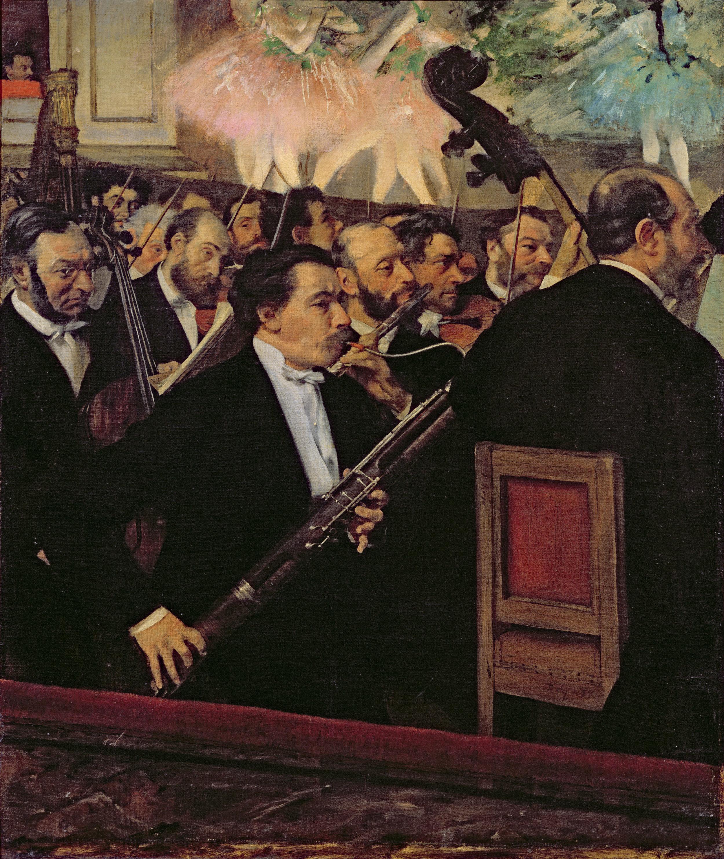 The Orchestra at the Opera, c.1870, Degas, Edgar, Musee d'Orsay, Paris, Bridgeman Images.jpg