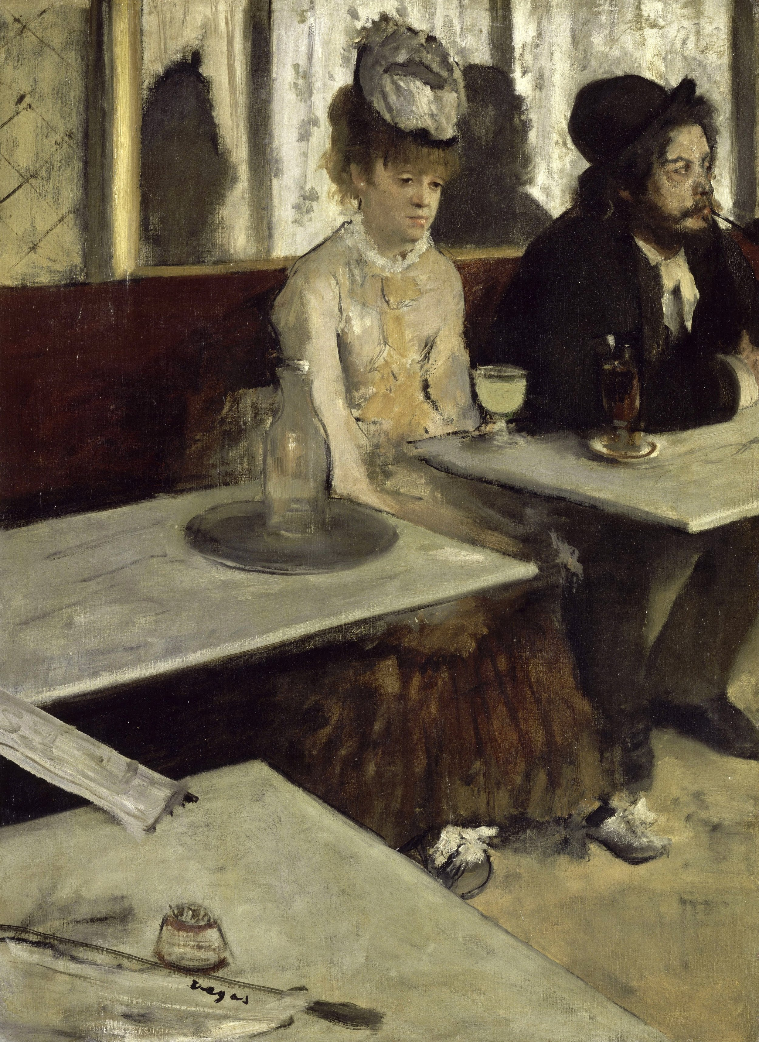Edgar Degas, In a Café c.1875, Google Art Project 2.jpg