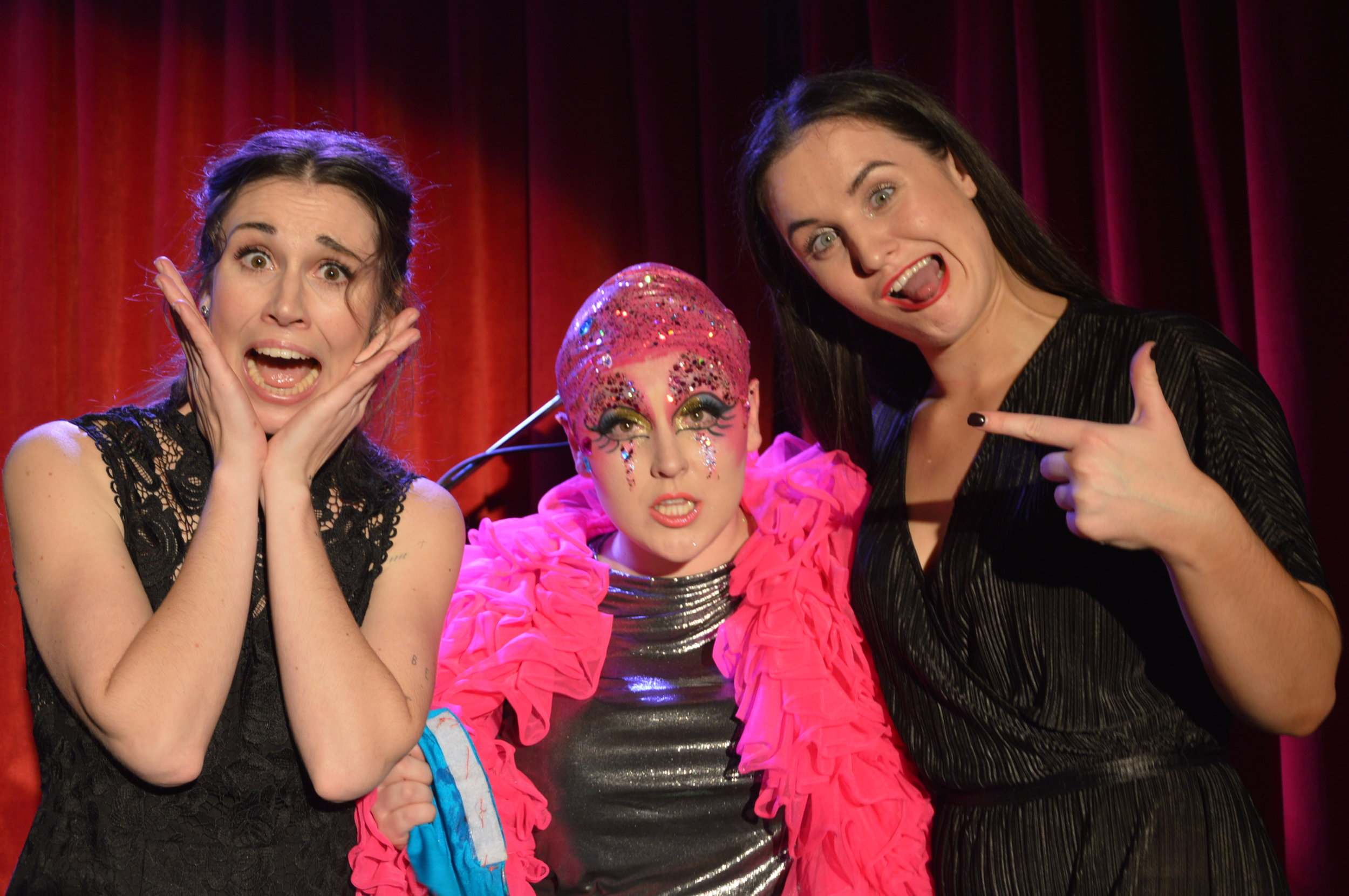 Sydney Cabaret Competition - Heat 3 winners: Ali Calder (L), Clare O'Connor (M), Billie Palin (R)