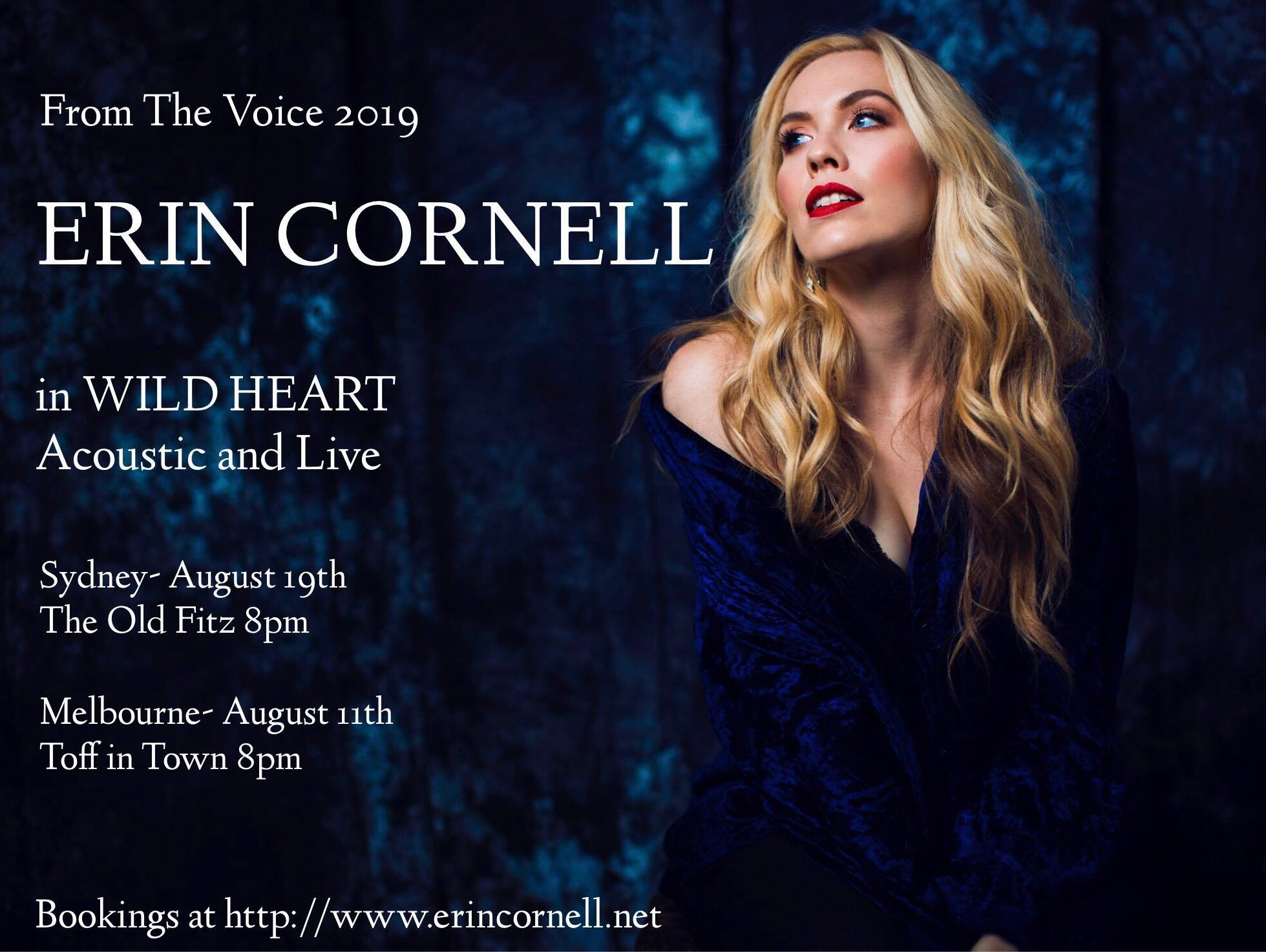 Erin Cornell - Back for a one-night only gig.