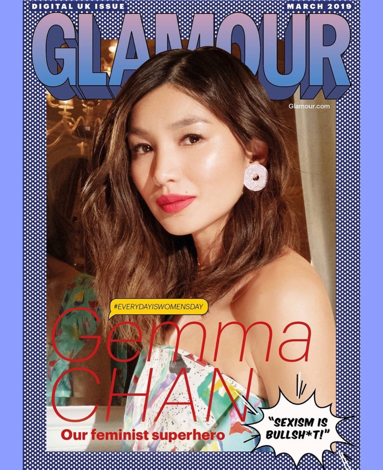 GEMMA CHAN GLAMOUR UK MARCH 2019