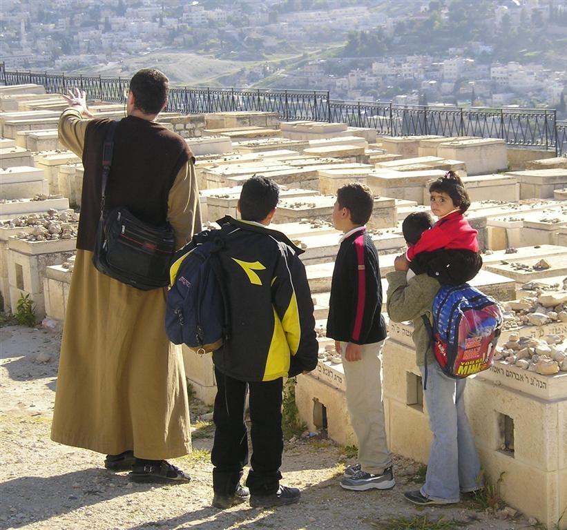In visita al Monte degli Olivi (Gerusalemme)