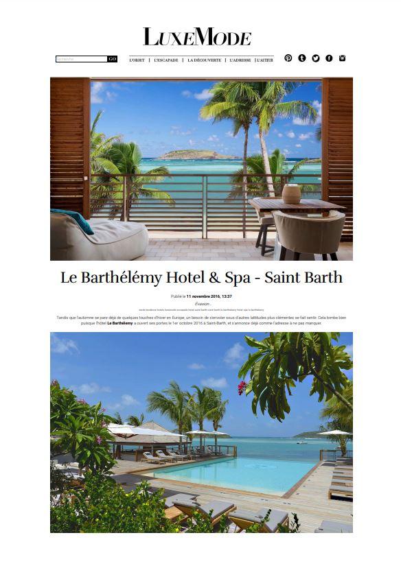 Le Barthélemy Hotel & spa - Saint Barthélemy