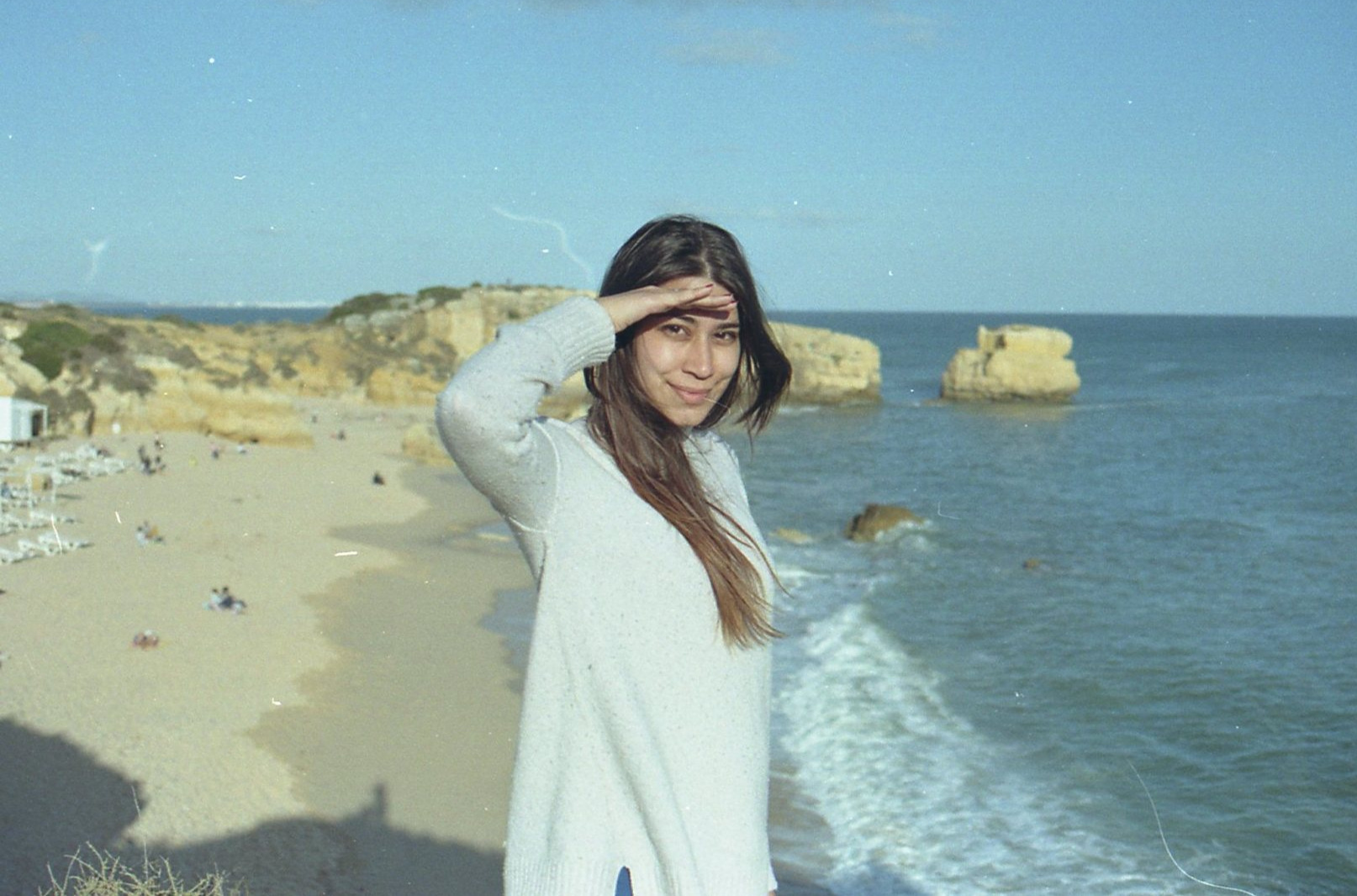 me in sunny Portugal, taken with film