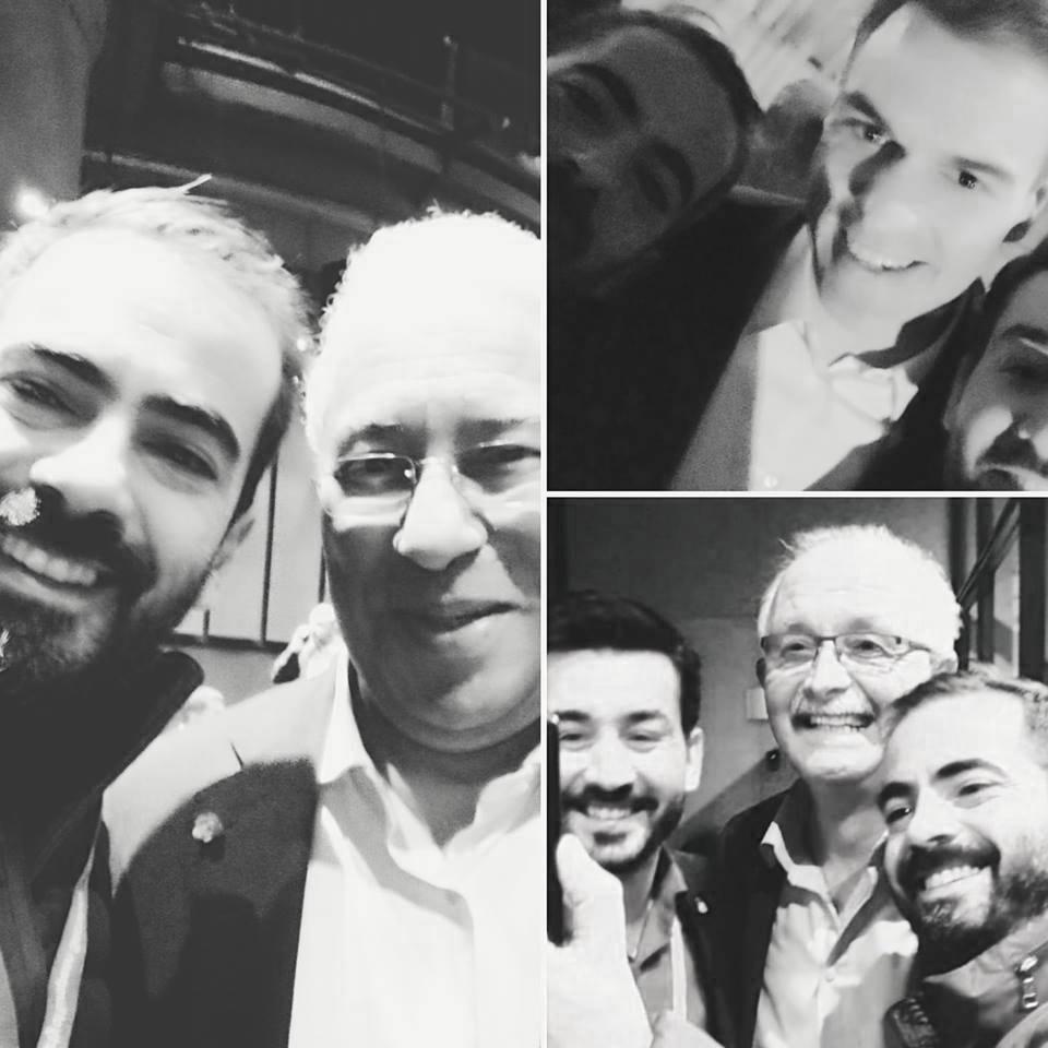 Με τον επικεφαλής της S&D  Udo Bullmann, των πρωθυπουργό της Ισπανίας Pedro Sanchez και τον πρωθυπουργό της Πορτογαλίας Antonio Costa