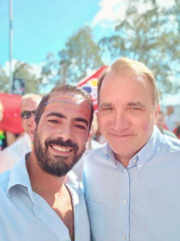 Με τον πρωθυπουργό της Σουηδίας στο EuroPride