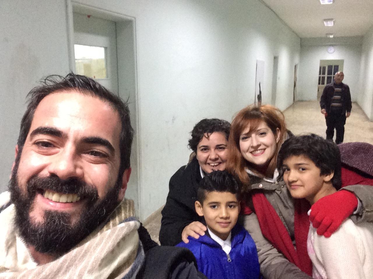 Στο Καμπ προσφύγων στην Ελευσίνα