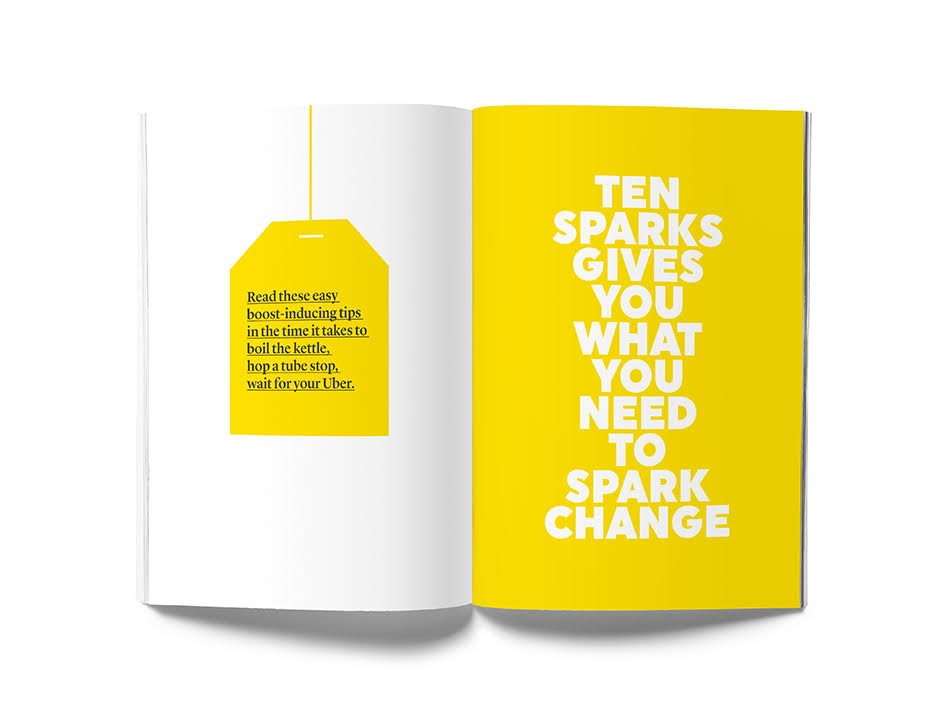 This is Ten Sparks, a booklet that accompanies 'Fuelling Your Best Work'