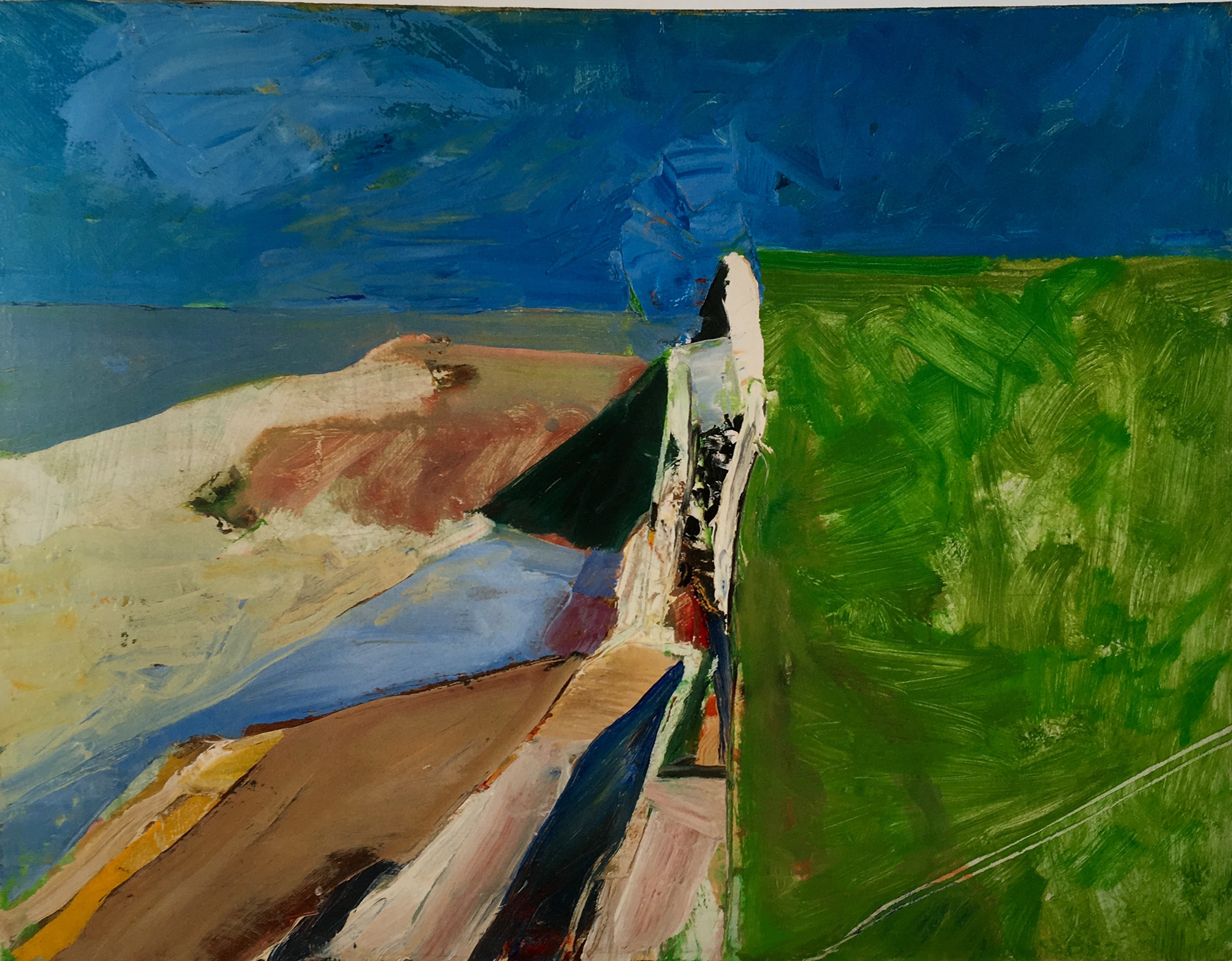 Diebenkorn, strongly abstract