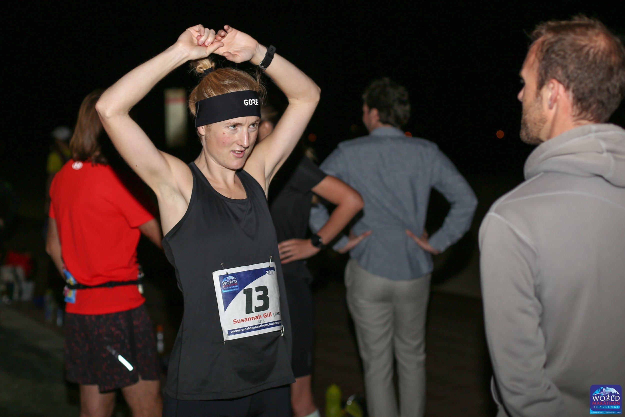 Susannah Gill at the start in Dubai .jpg