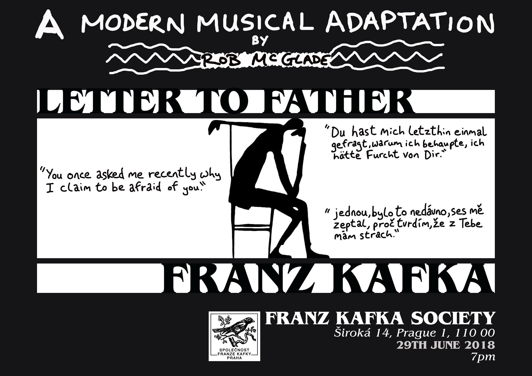 Poster for performance in Franz Kafka Society, Prague