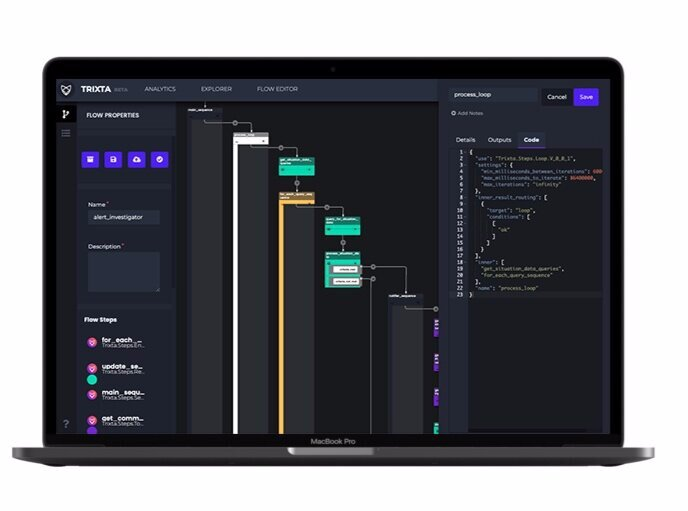 Build event-driven software, better. - For cross-functional teams to: - model business needs - orchestrate services - code working software All in a single visual interface.