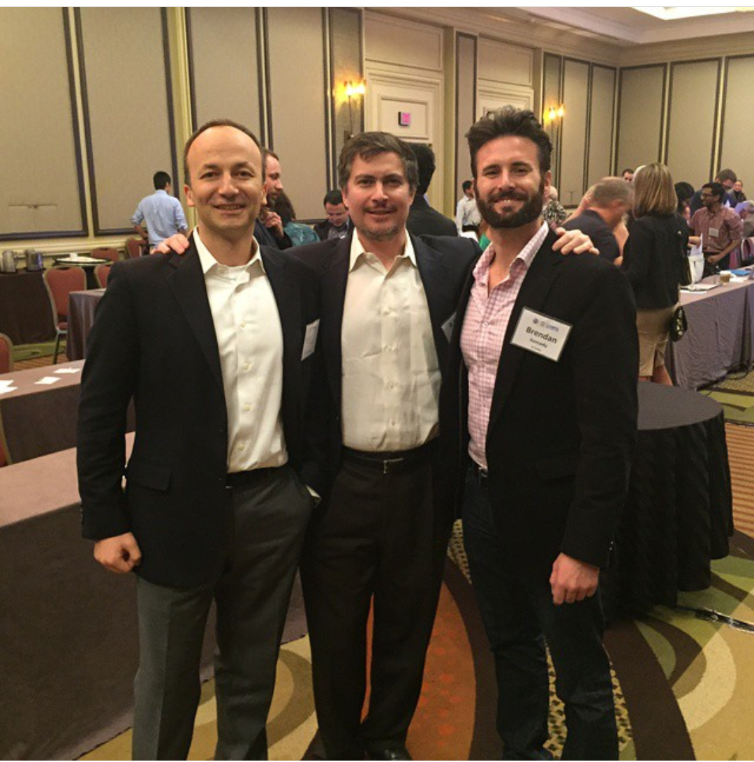 From left to right, Ozalp Ozer, Ozan Gursel, and Brendan Kennedy at the I-Corps awards ceremony in Washington D.C.