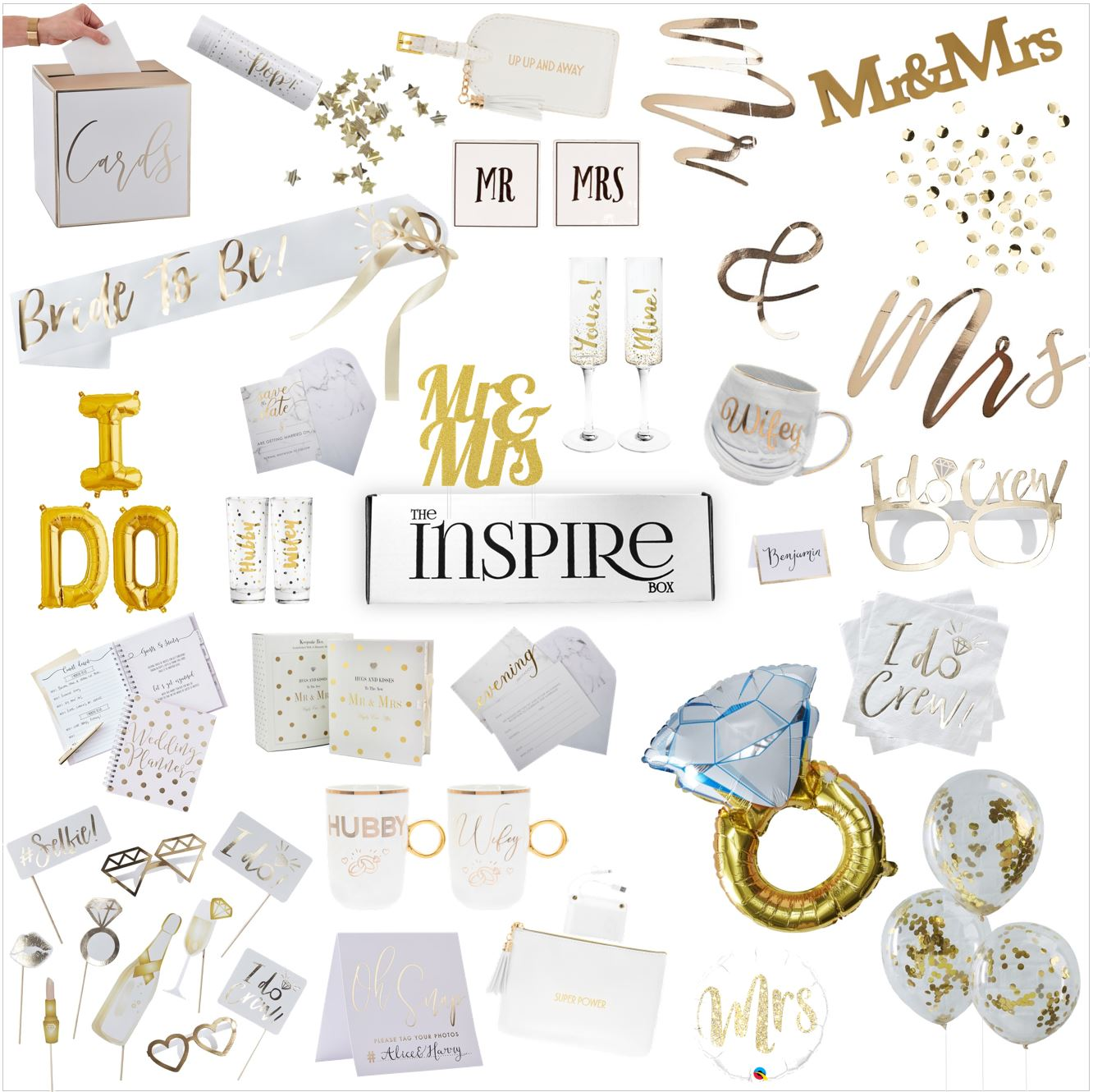 Wedding stationary can appear in your box