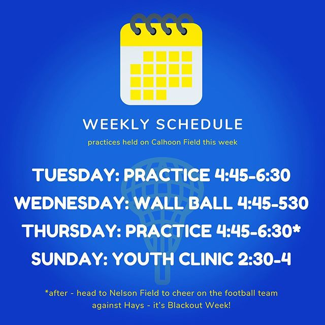Happy Monday! Big week of practices and our youth clinic. AND, it's BLACKOUT week so head to Nelson Field after practice on Thursday to cheer on @andersontrojanfootball! #sticksup #ATacksuccess