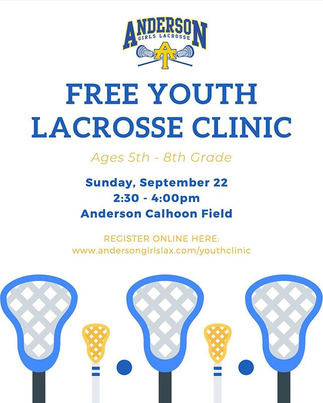 Coach Ross is fires up for the youth clinic this Sunday! Clinic is for both experienced and beginner players in 5th-8th grade. RSVP if possible using link on flyer. #sticksup #generationtrojan