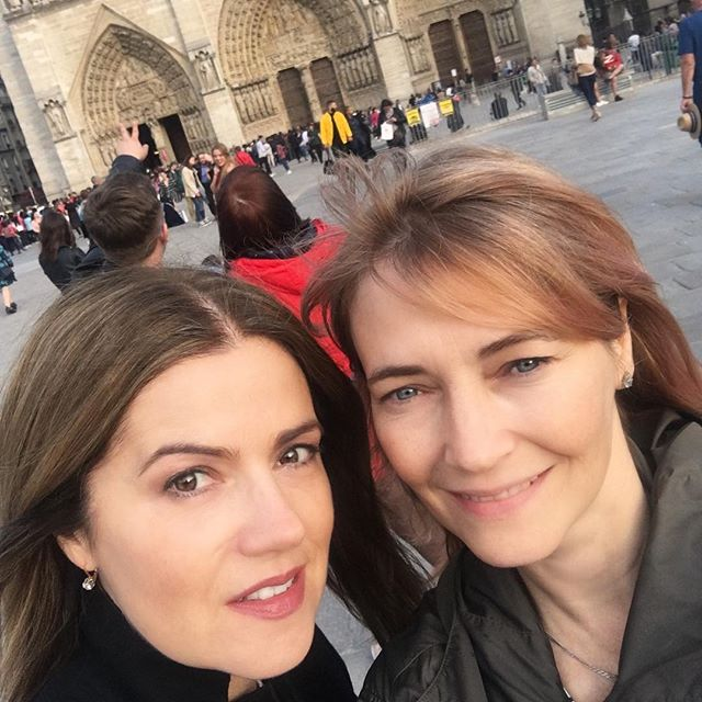 Words cannot express the sadness of today's events.💔💔💔 It breaks the hearts of so many around the world ~ Stay tall Notre-Dame de Paris 🇫🇷 I'm grateful for these memories I had here with my sis. #loveparis #notredame