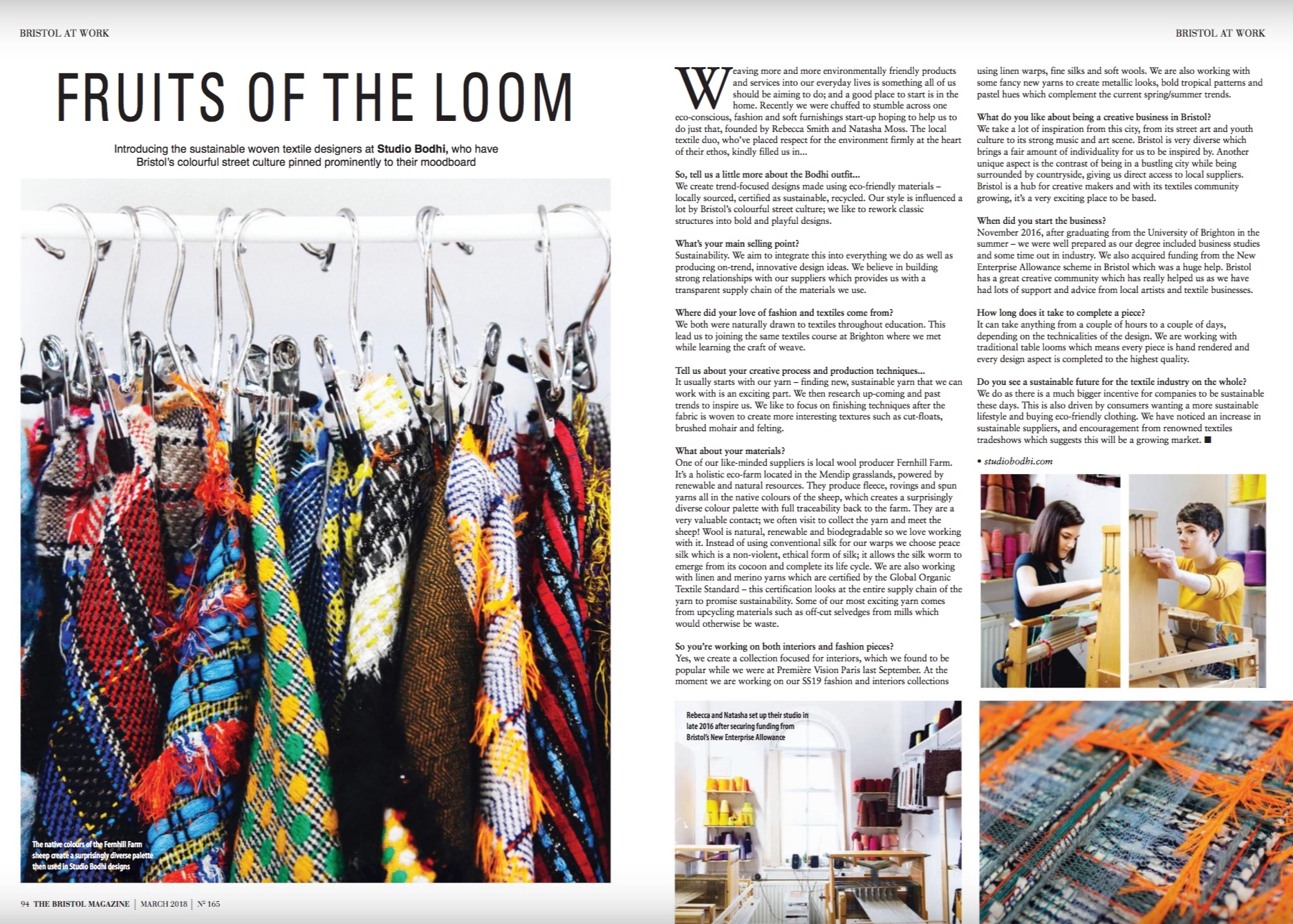 Studio Bodhi Featured in The Bristol Magazine