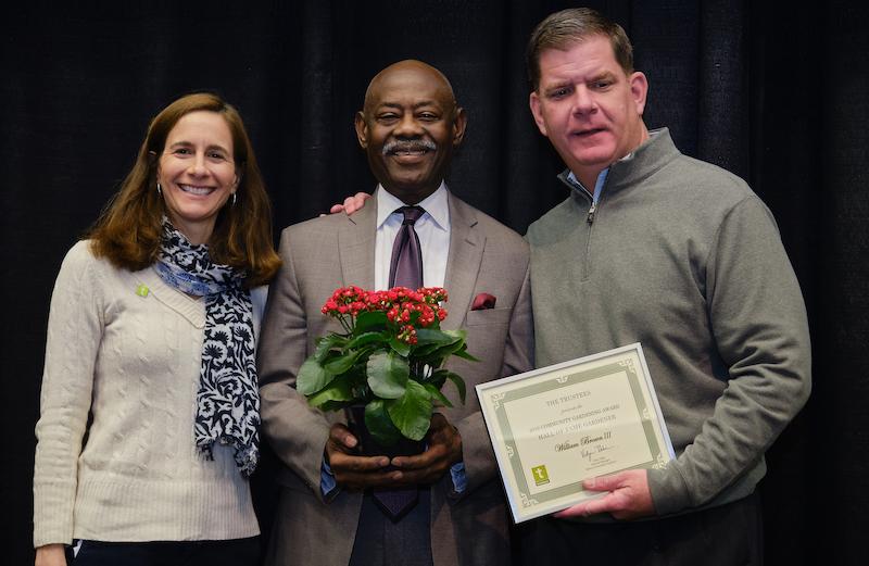 2019 Boston Community Garden Awards Hall of Fame Willie Brown III, Ed Cooper Community Garden