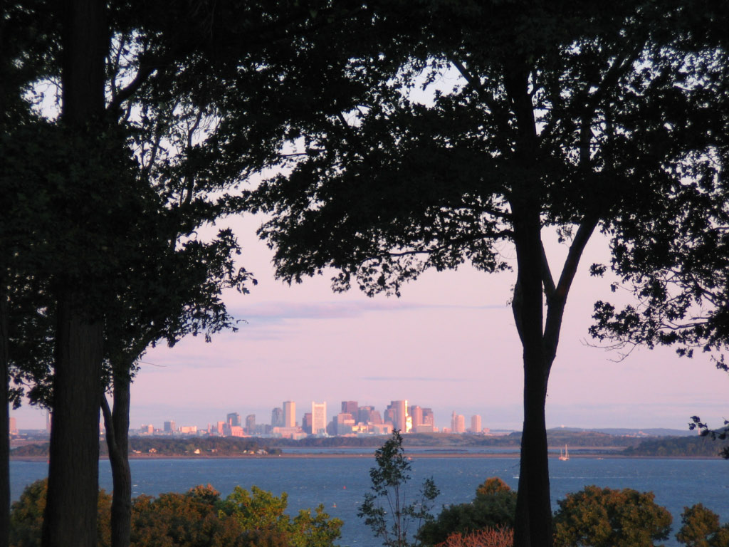 View of the Boston skyline from World's End (Courtesy R. Mahoney)