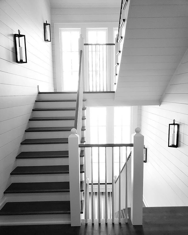 Stairway to heaven!  #customhome #lakehouse #woodworking #stairs #mcguirebuilt