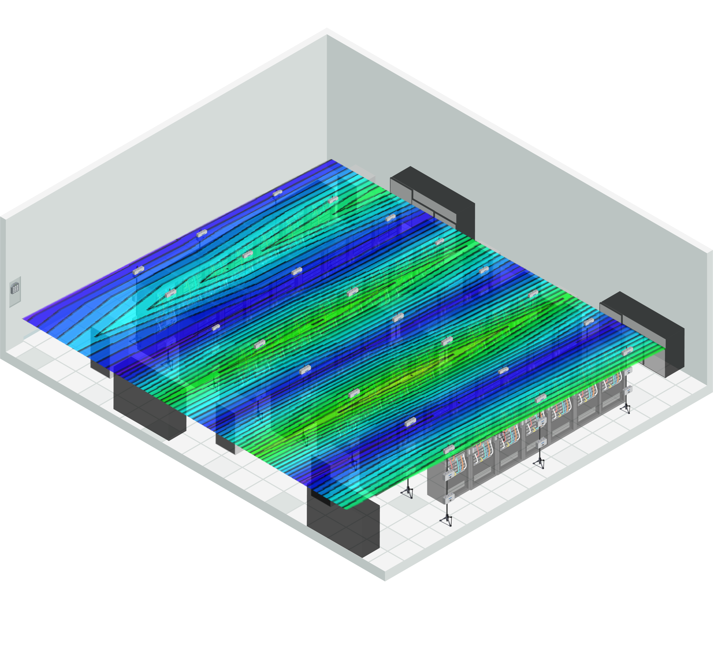 Isometric Transparent Data Hall with map.png