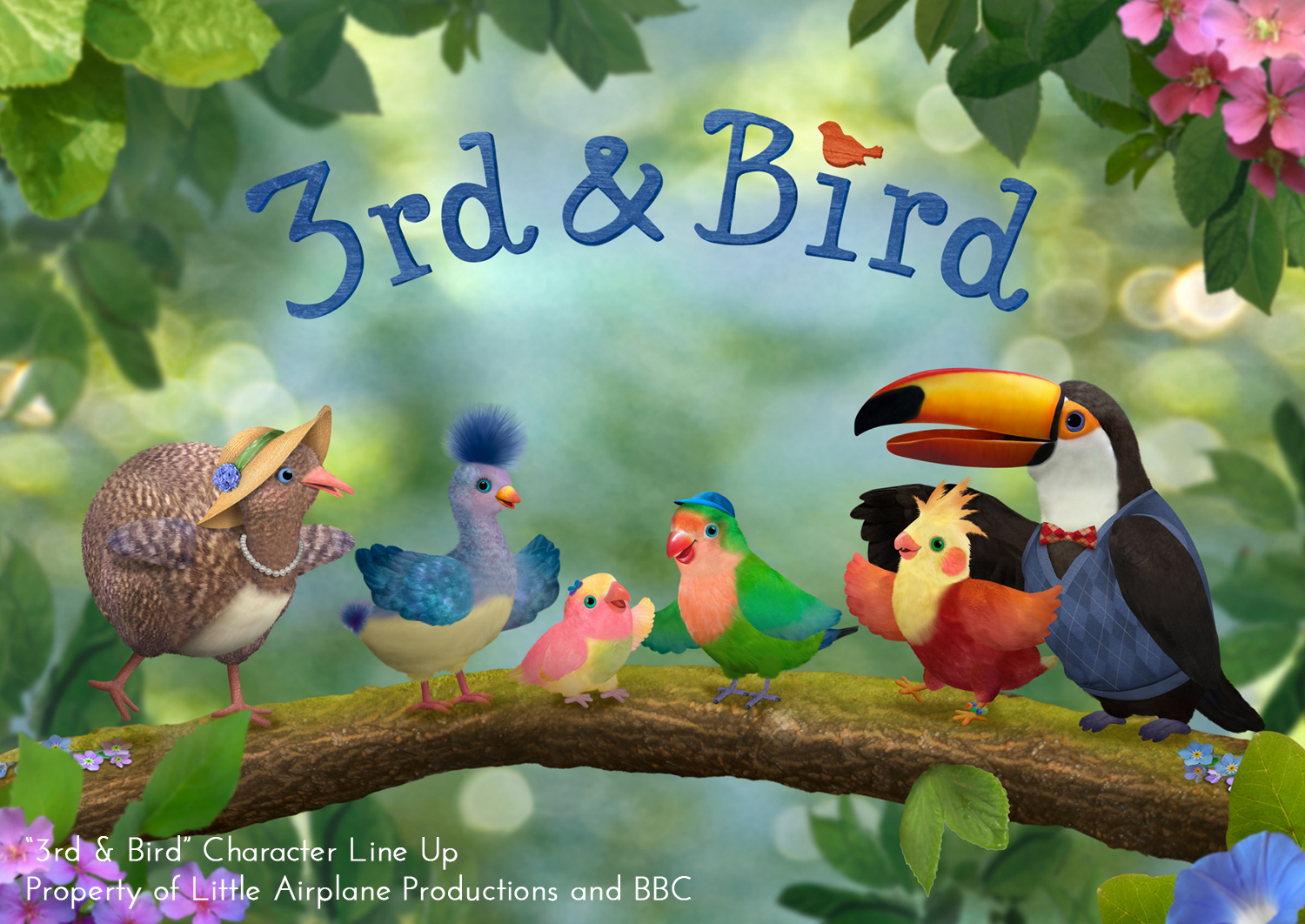 "Character designs for ""3rd & Bird!"" show on Cbeebies with Little Airplane Productions"
